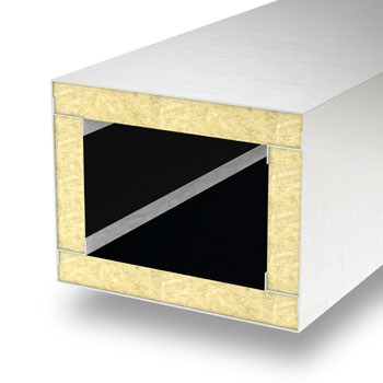 Ventilation duct insulated with PAROC InVent G5 slabs